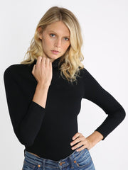 Black turtleneck bodysuit 1