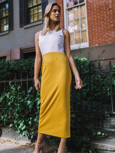 Yellow Maxi Dress 1