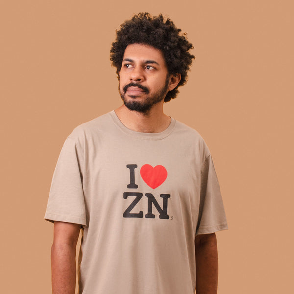 I love ZN unissex cáqui
