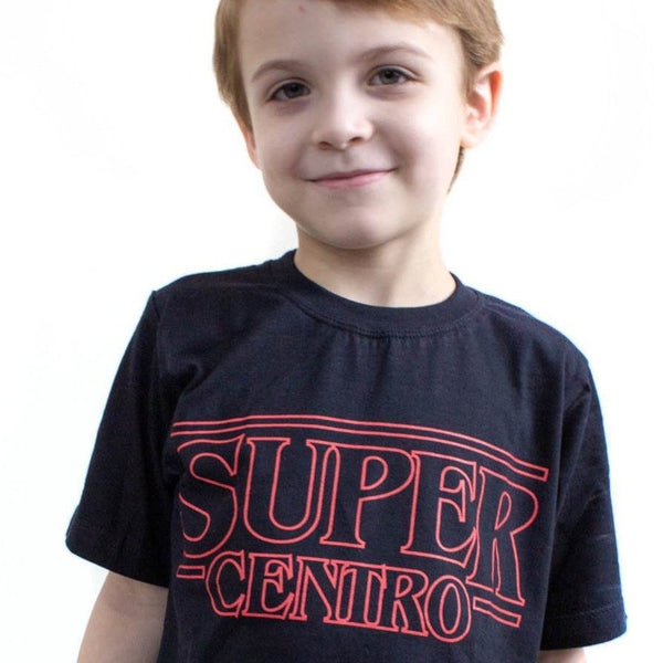 Super Centro Stranger Things - infantil - preta