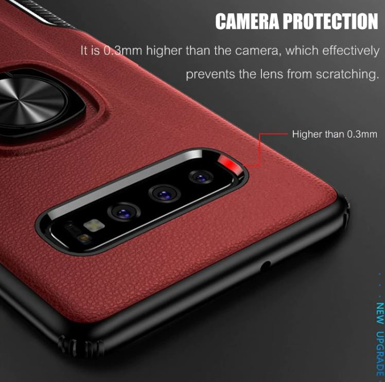 Dilano | anti-shock leather Samsung ring case