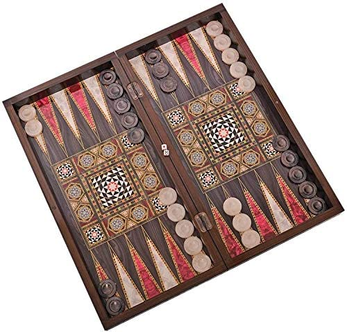 Star The 19'' Silver Backgammon Turkish Premium Board Game Set