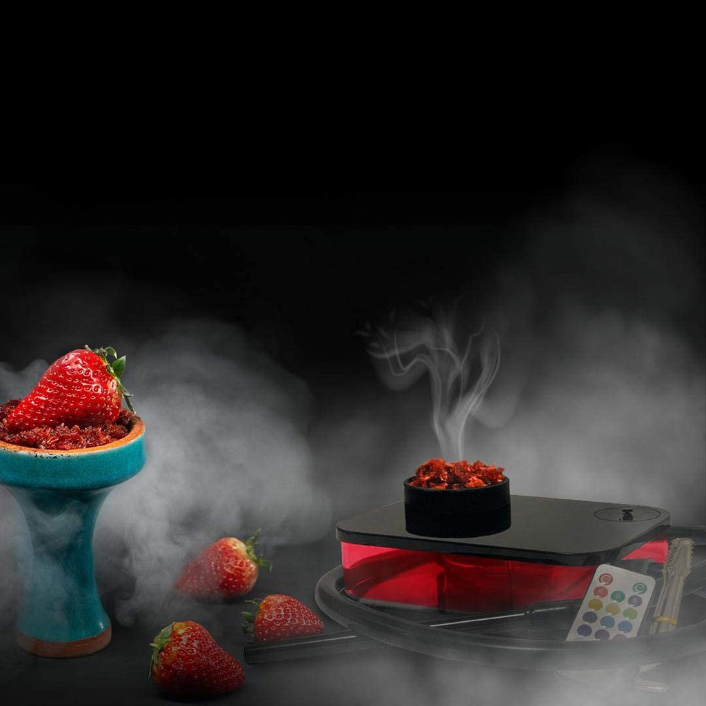 BOOSEY Modern Portable Hookah Set for Best Shisha Experience | LED with Remote Control | Nargile, Nargila, Narguile