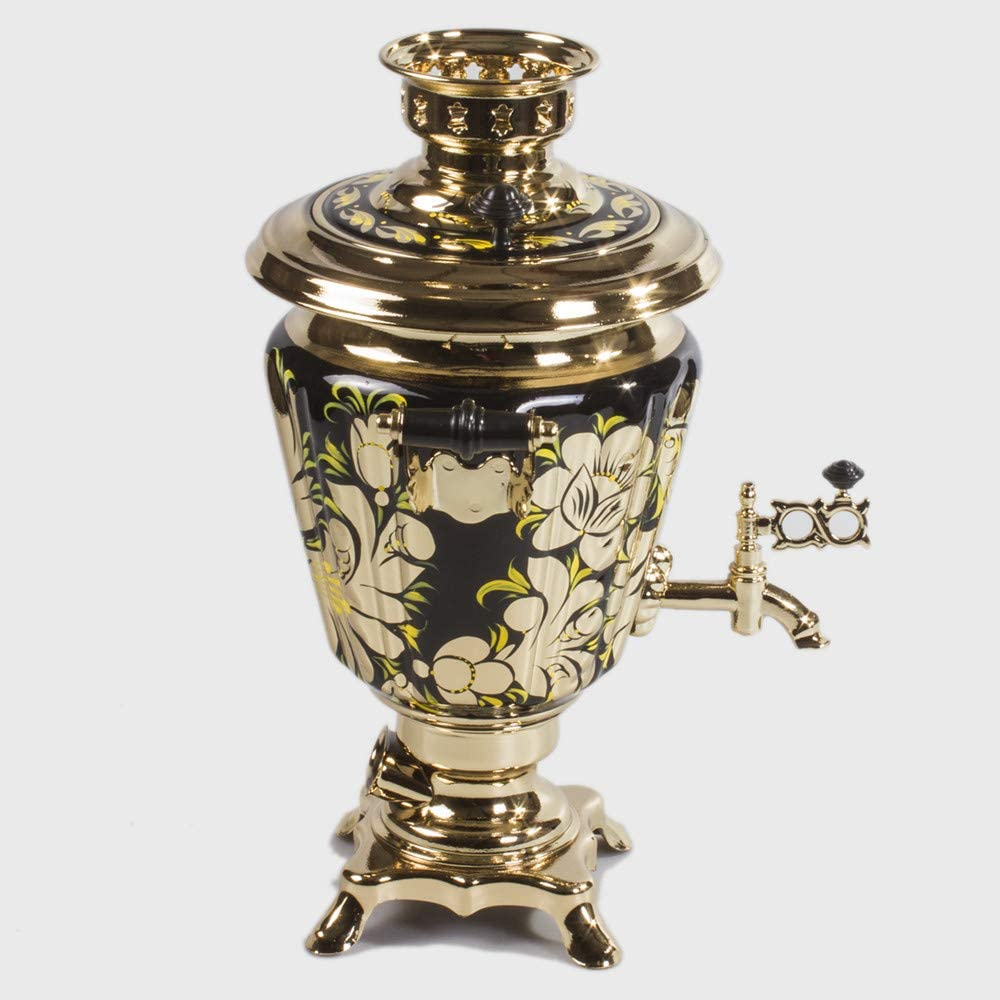 Rooster Electric Samovar Set with Tray & Teapot Russian Samovar