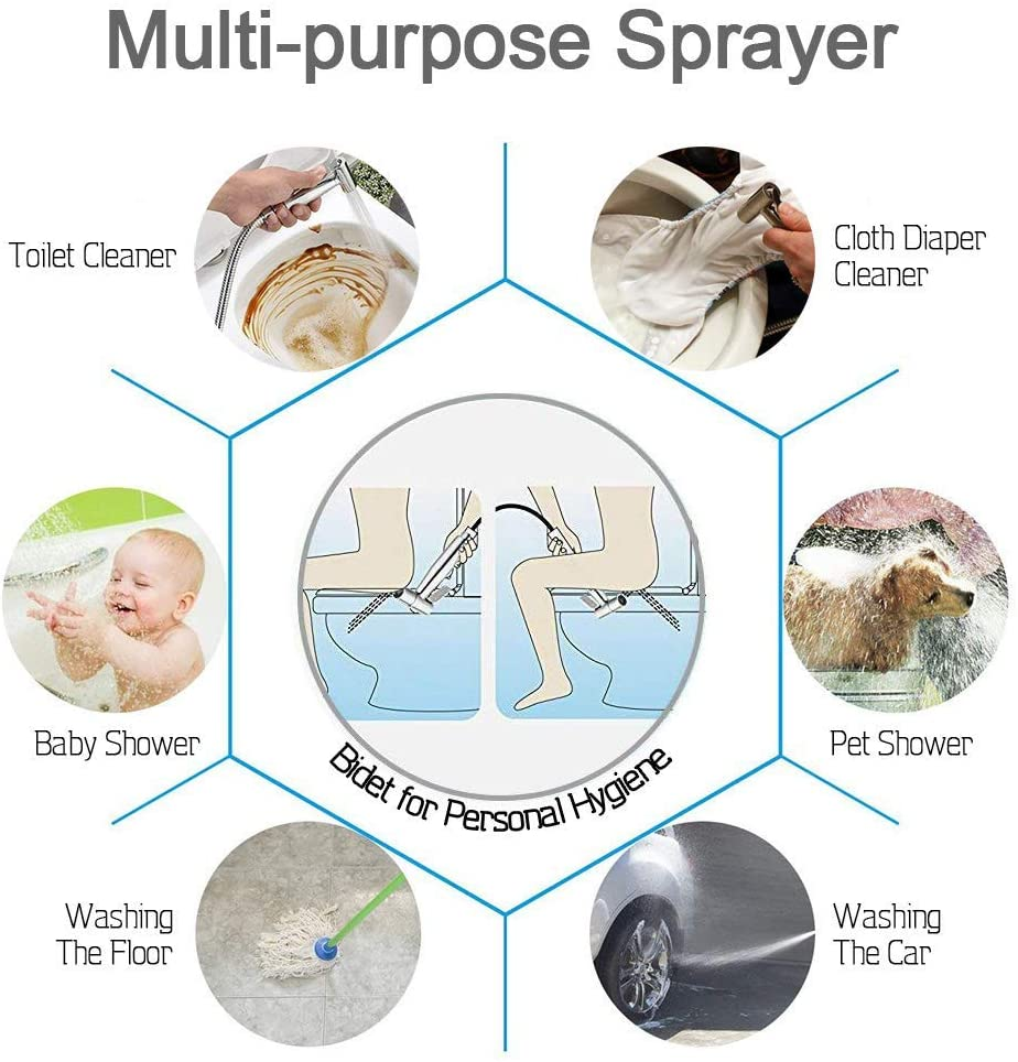 Bidet Sprayer for Toilet, Handheld Cloth Diaper Sprayer