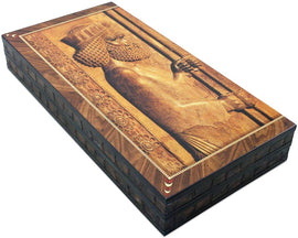 shayniyenigun The 19'' Persian King Backgammon Board Game Set