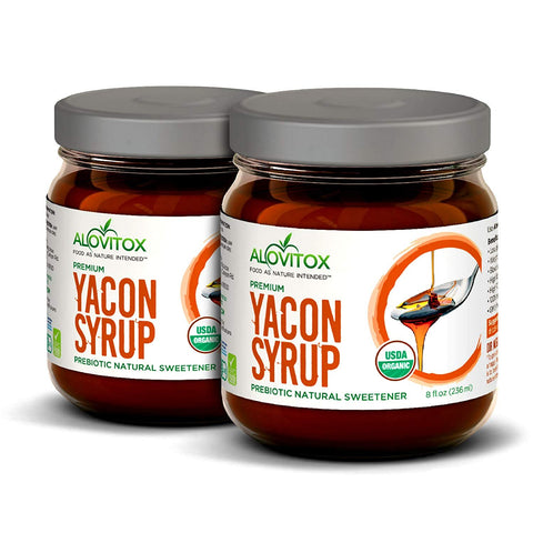 2 Pack Yacon Syrup - 100% Pure Yacon Syrup USDA Organic Natural Sweetener