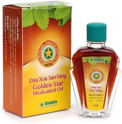 Golden Star Medicated Oil, Cao Sao Vang Vietnam