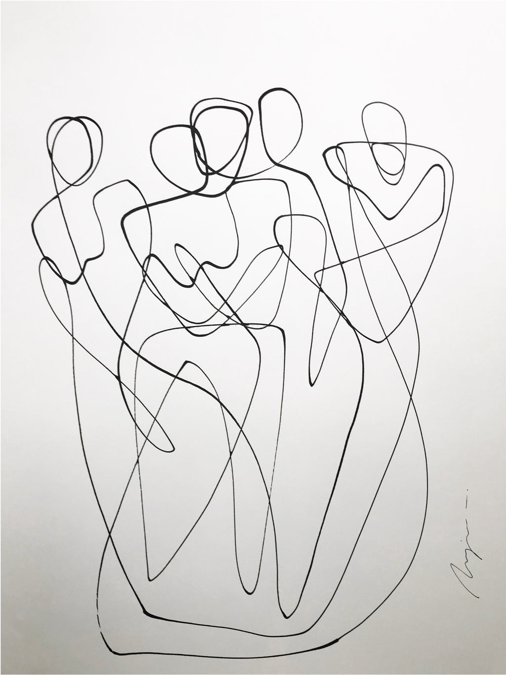 A bond for life I One line I unframed