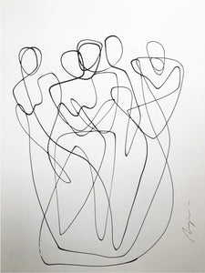 A Bond For Life I One Line I Unframed Maja Krstic Art Diary