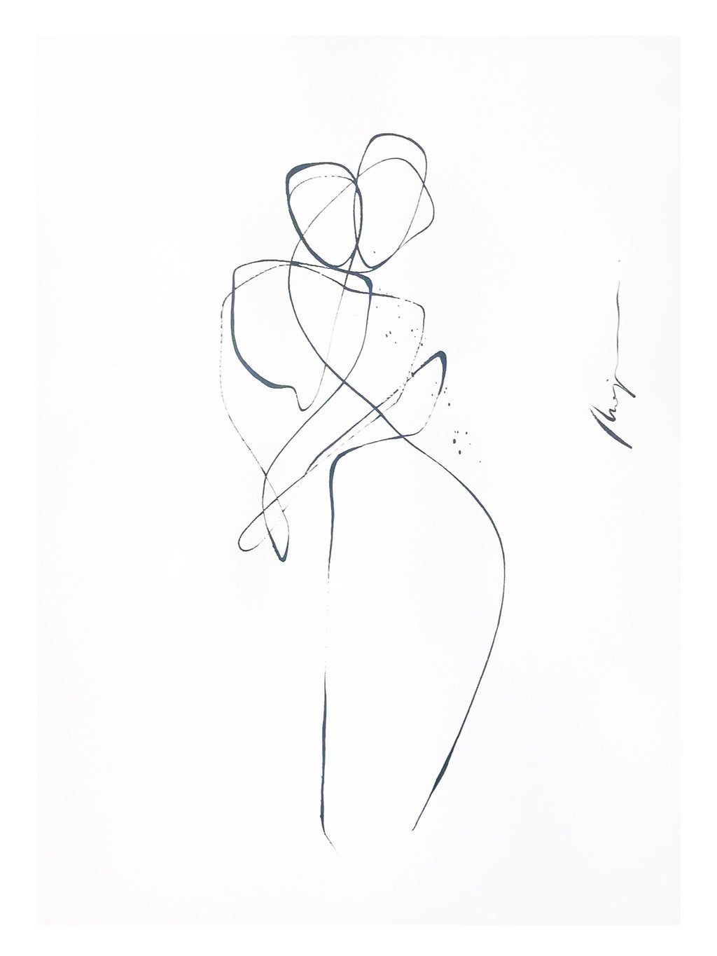 Dance with me I One line I unframed