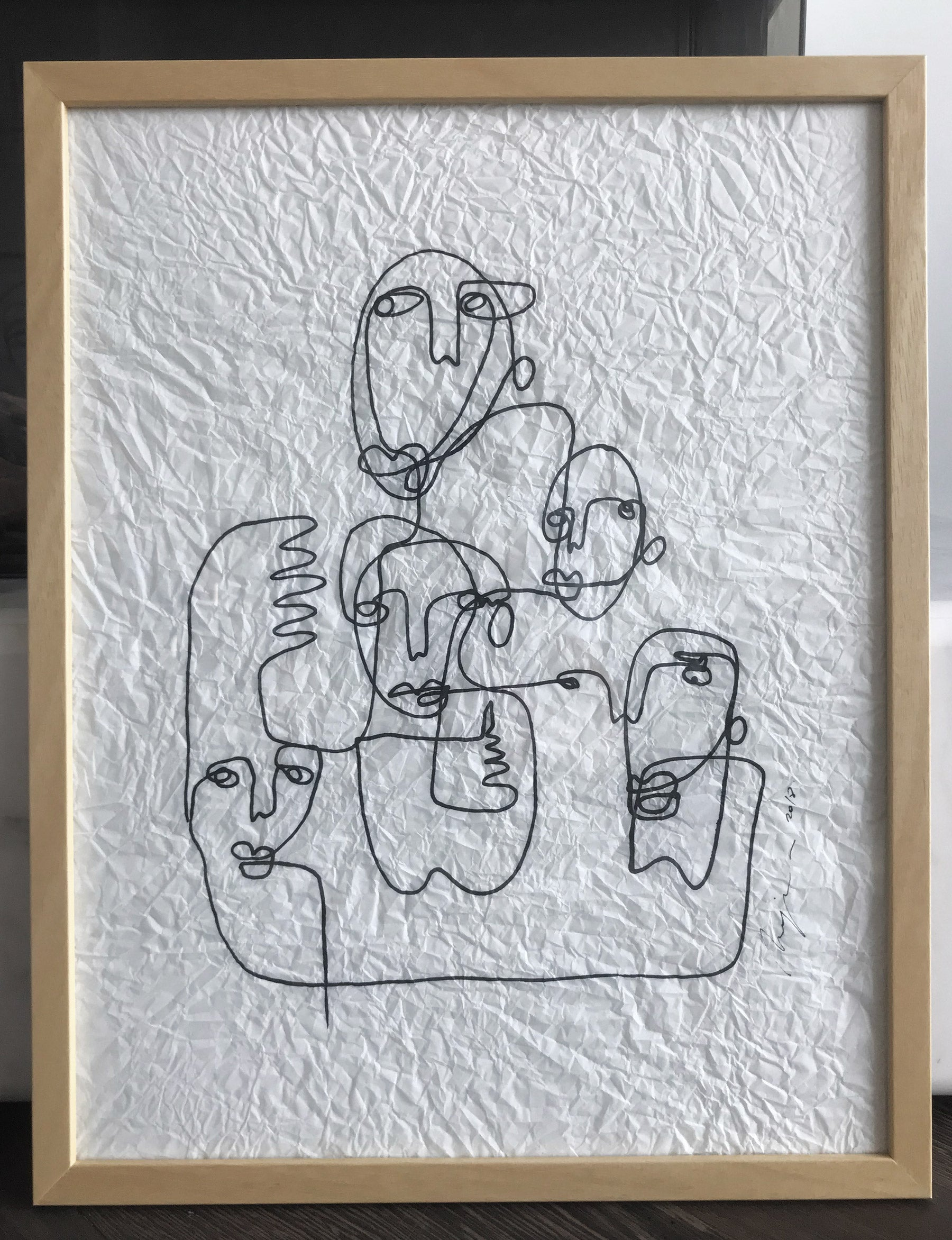 Confab I One line I framed