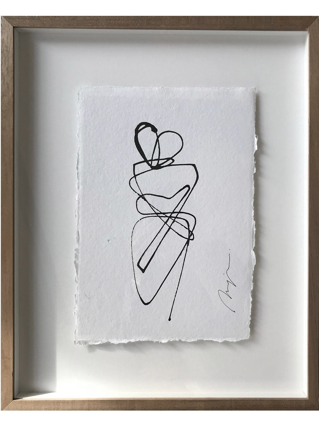 Lovers I One line I framed