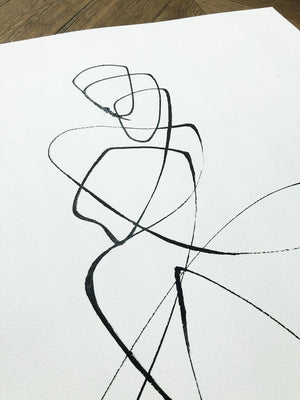 Dancing Slowly I One line I Medium size