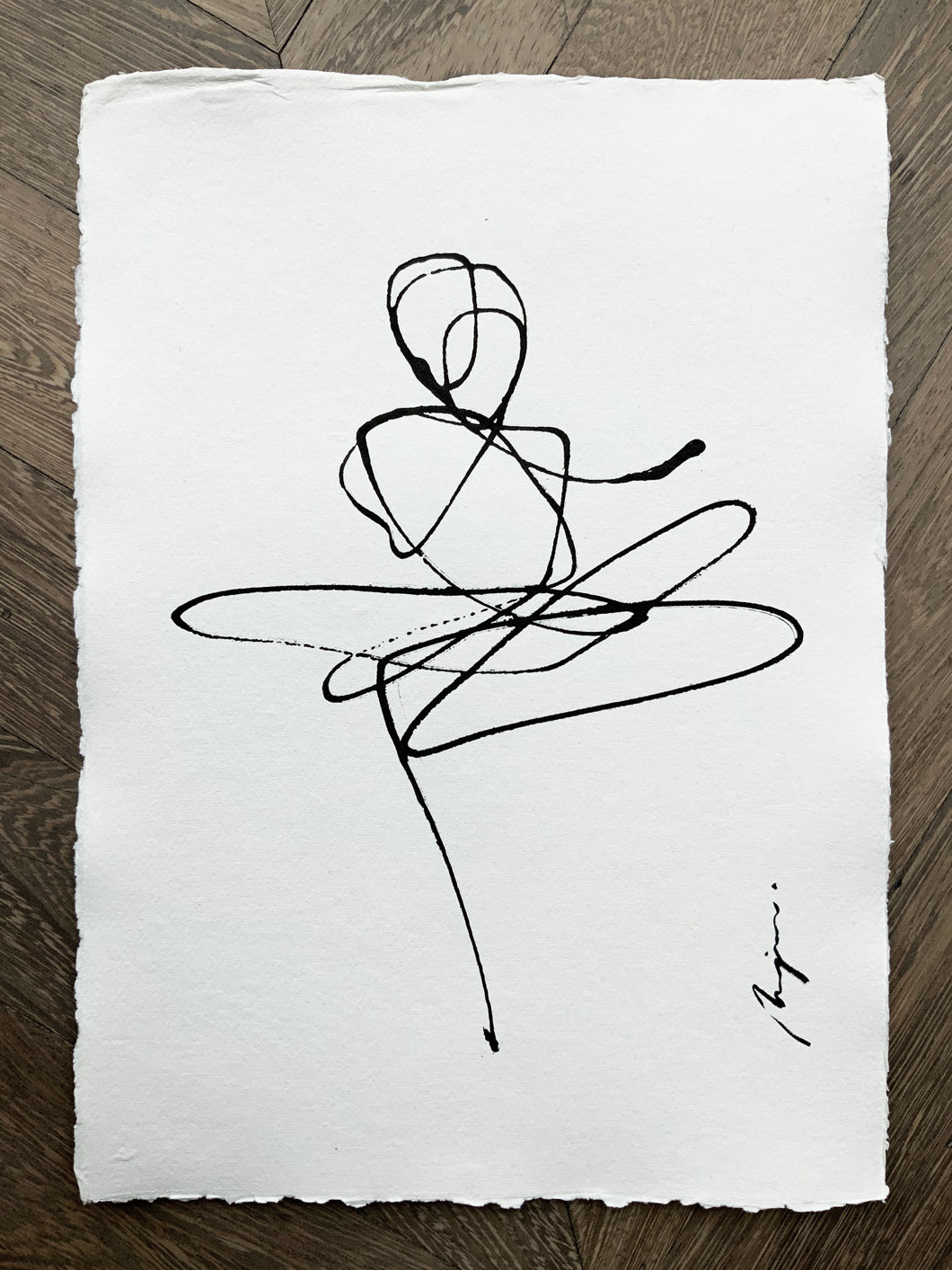 Lovers I One line I unframed