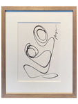 Motherhood I One line I framed
