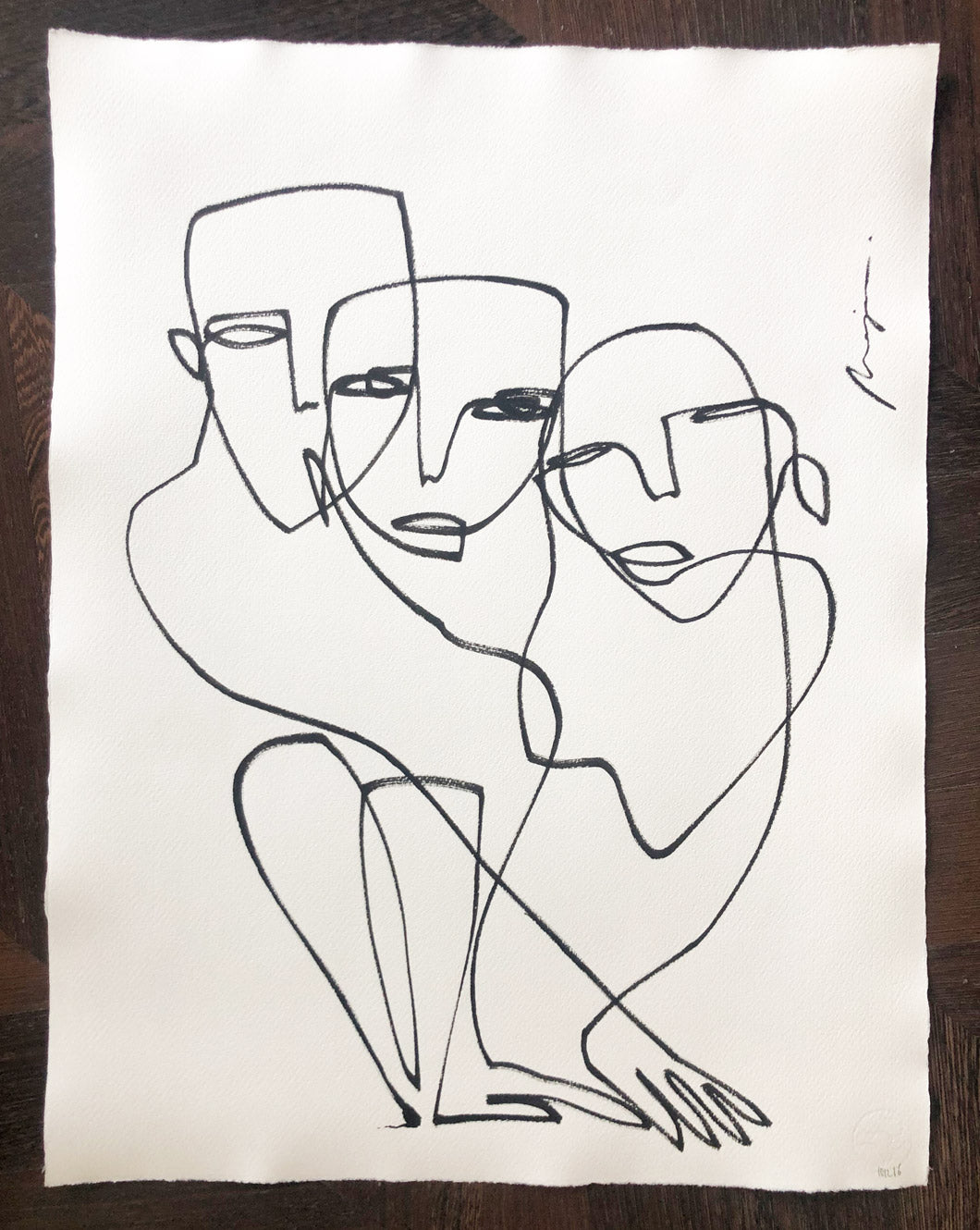 The Inseparable 3 I One line I unframed