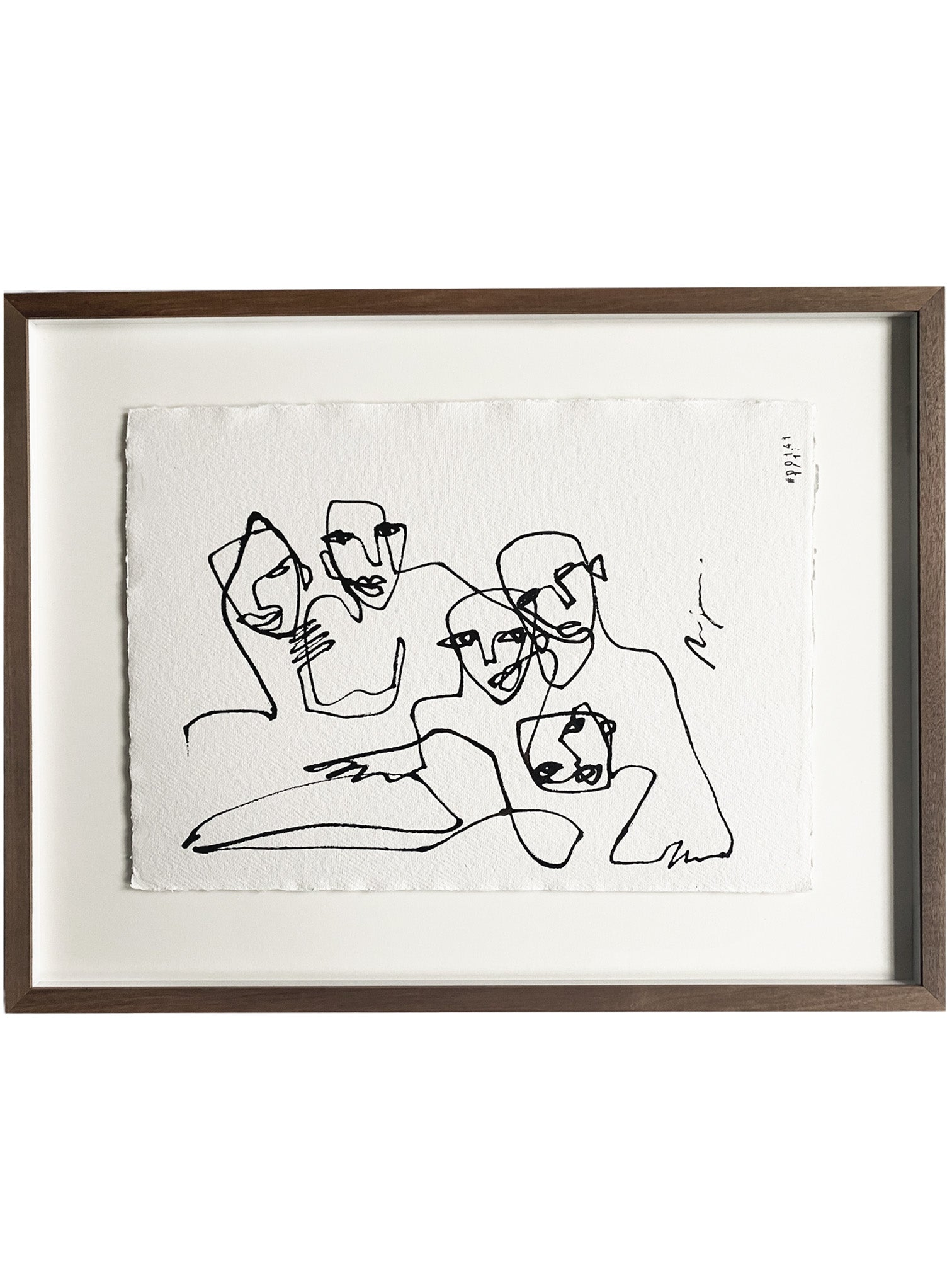 The Inseparable five I One line I Framed