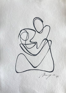 Motherhood I One line I unframed