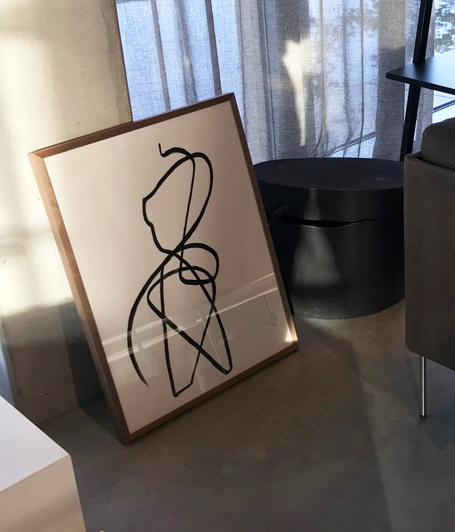 Nude I One line I framed