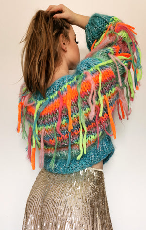 Fringzy handknitted sweater