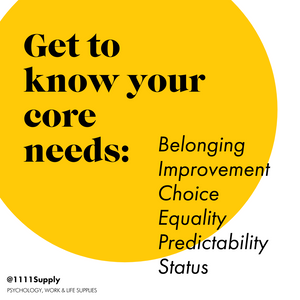 Get to Know Your Core Needs