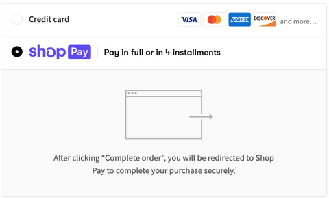 You can split up payments into four installments at checkout