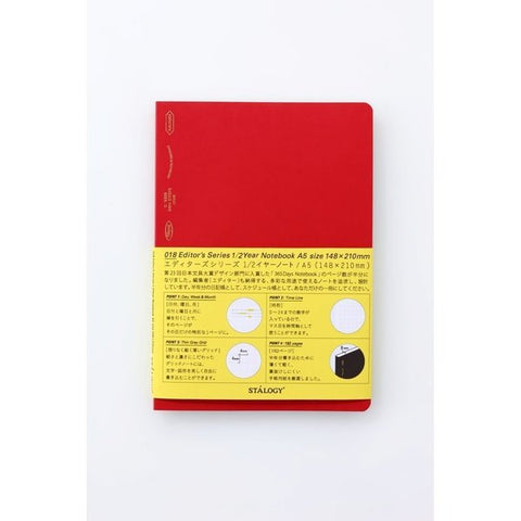 Stalogy 365 paged Grid A6 Notebook - 11:11 Supply