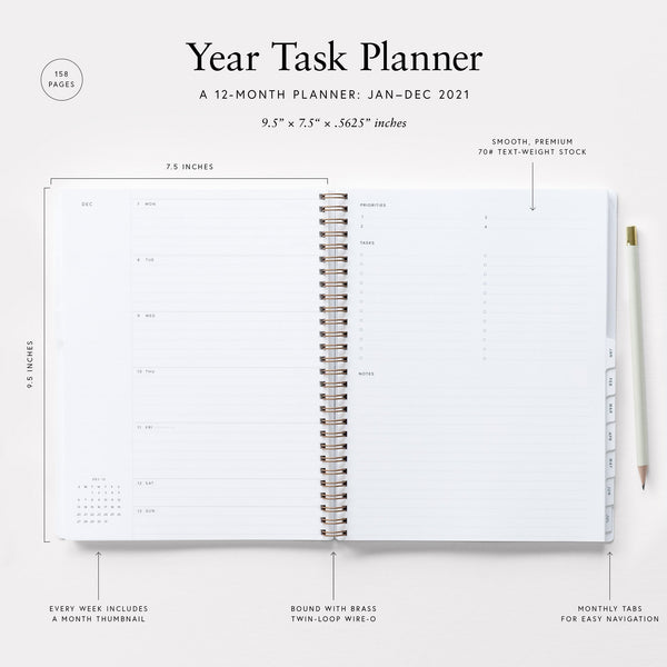 2021 Year Task Planner - 11:11 Supply
