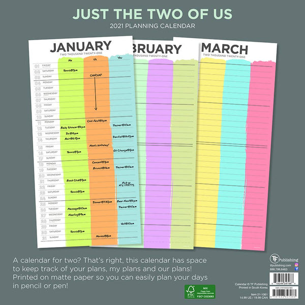 Just the Two of Us Wall Calendar - 11:11 Supply