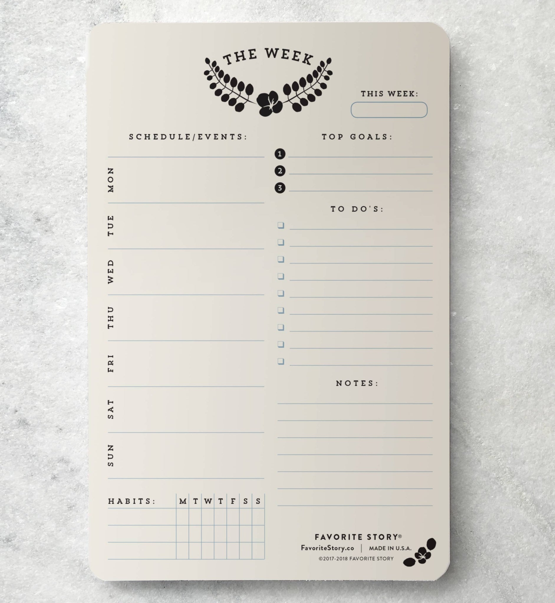 Weekly Laurel Planning Notepad - 11:11 Supply