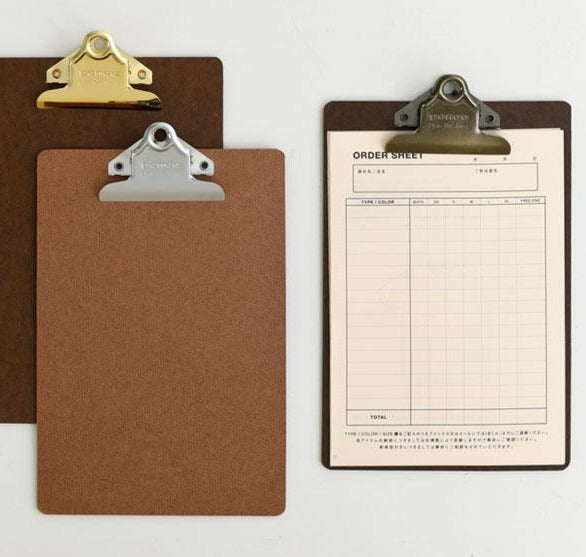 Vintage Style Large Clipboard: Penco A4 Gold - 11:11 Supply