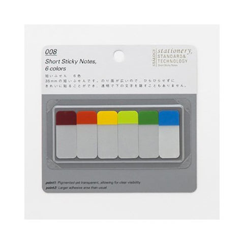 008 Short Sticky Notes Rainbow - 11:11 Supply