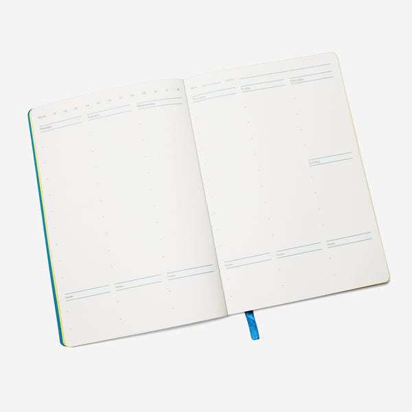 Year of Sun Undated Weekly Planner Blue - 11:11 Supply