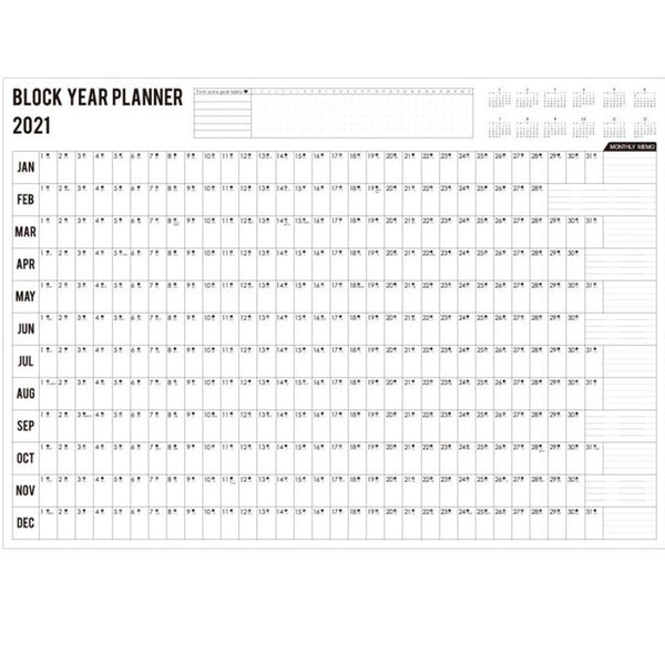 2021 Large Block Year Planner - 11:11 Supply