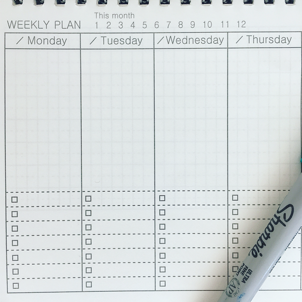 Minimalist Horizontal Weekly Planner A5 - 11:11 Supply