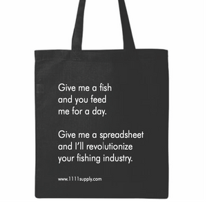 Cotton Tote: Fish & Spreadsheets - 11:11 Supply