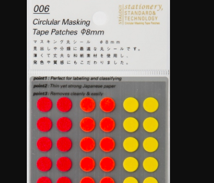 Stalogy Dot Stickers: 006 Circular 8mm Fine - 11:11 Supply