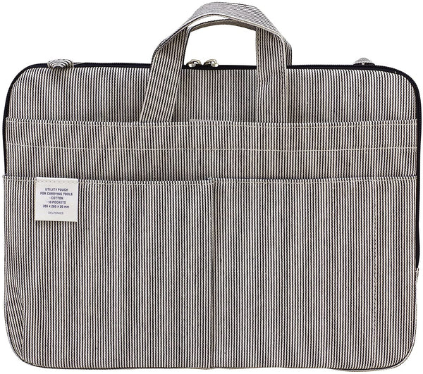 Pinstripe Denim Laptop Tote - 11:11 Supply