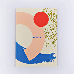 Memphis Brush Dot Notebook - 11:11 Supply
