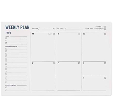Two Tumbleweeds Weekly Plan Notepad - 11:11 Supply