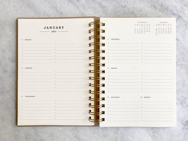 2021 Weekly Planner with Month Tabs - 11:11 Supply