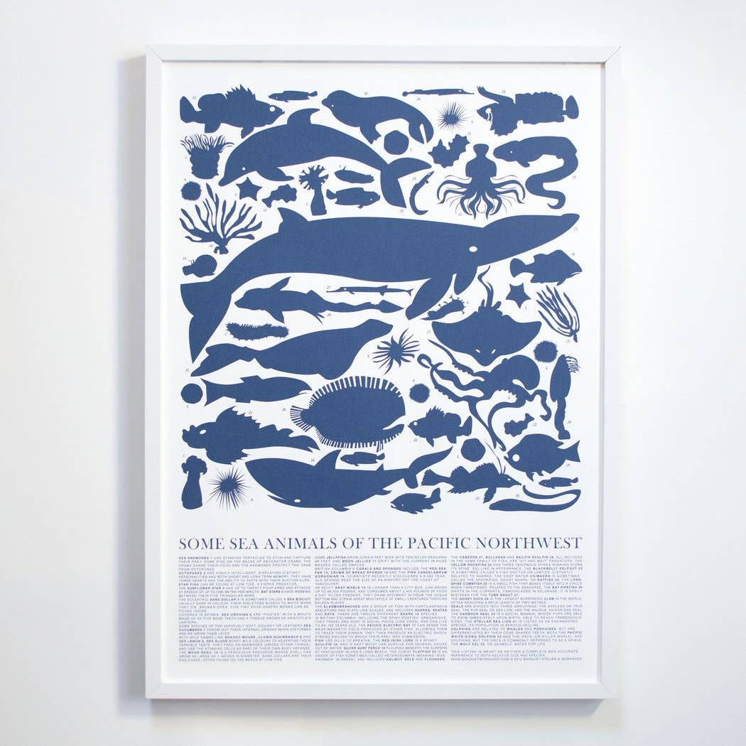 Sea Animals of the PNW: Archival Screen Print - 11:11 Supply