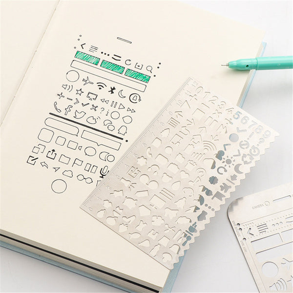 Metallic Stencil Rulers - 11:11 Supply