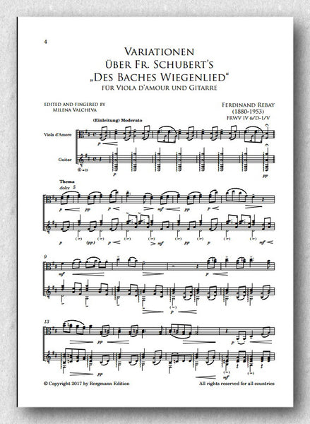 Rebay [027], Variationen-Baches Wiegenlied-Viola d'amour-Gitarre - preview of the score 1