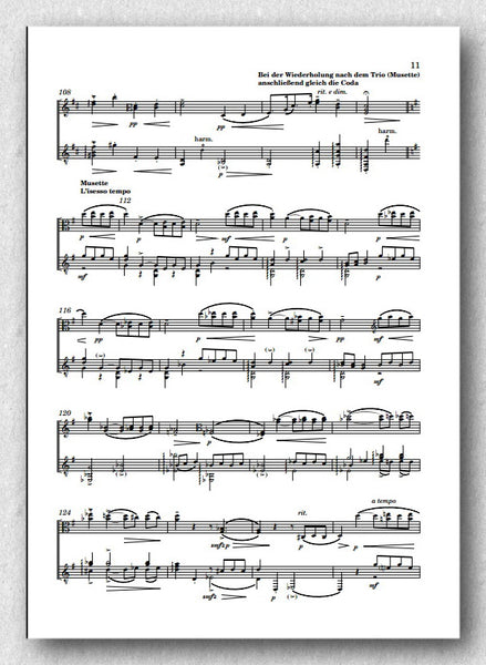 Rebay [027], Variationen-Baches Wiegenlied-Viola d'amour-Gitarre - preview of the score 3