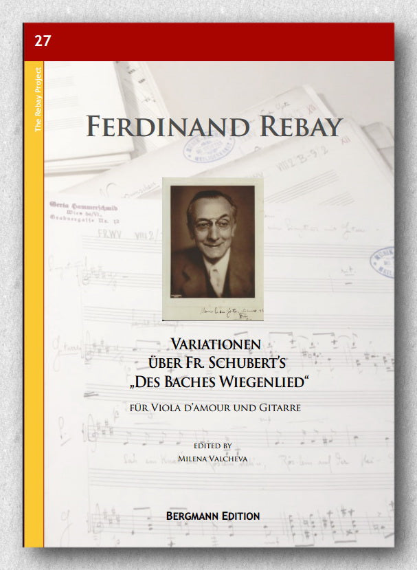 Rebay [027], Variationen-Baches Wiegenlied-Viola d'amour-Gitarre - preview of the cover