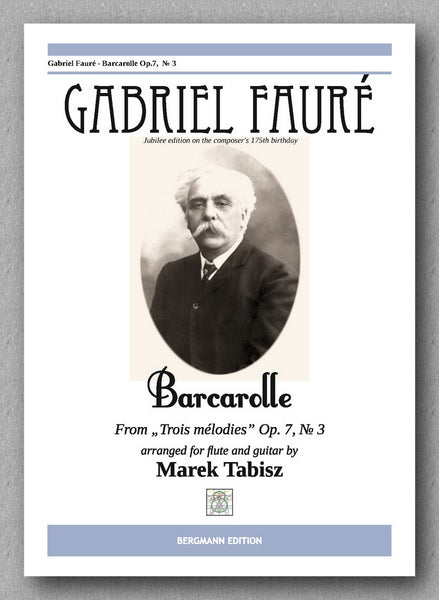 Faure-Tabisz, Barcarolle - op 7 No 3 - preview of the cover