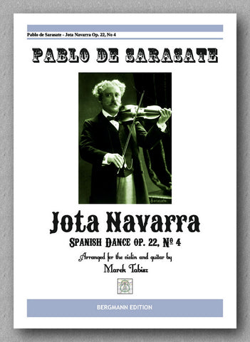 PABLO DE SARASATE, Jota Navarra - preview of the cover
