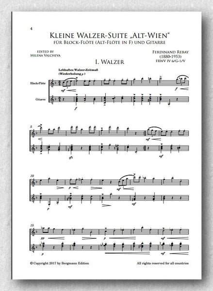 Rebay [053], Kleine Walzer-Suite - preview of the score 1